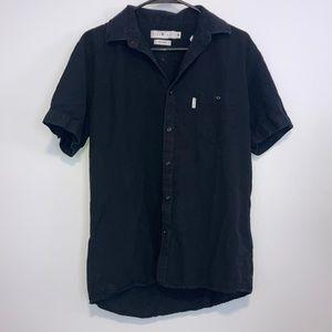 Five Four Mens cambridge black Button down shirt